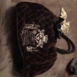Juicy Couture black Velvet purse